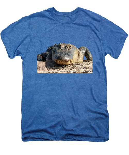 Alligator Approach .png Men's Premium T-Shirt by Al Powell Photography USA