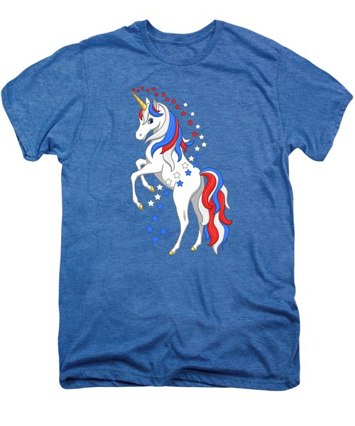 American Flag Patriotic Unicorn Men's Premium T-Shirt