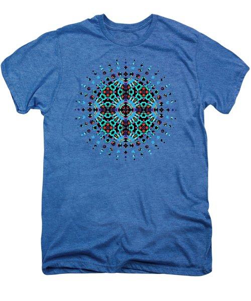 Aqua Geometric Mandala Men's Premium T-Shirt