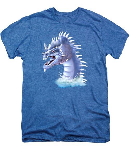 Arctic Ice Dragon Men's Premium T-Shirt by Glenn Holbrook