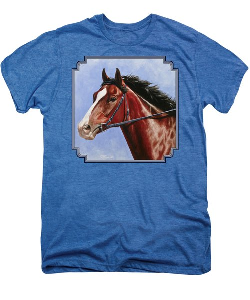 Horse Painting - Determination Men's Premium T-Shirt by Crista Forest