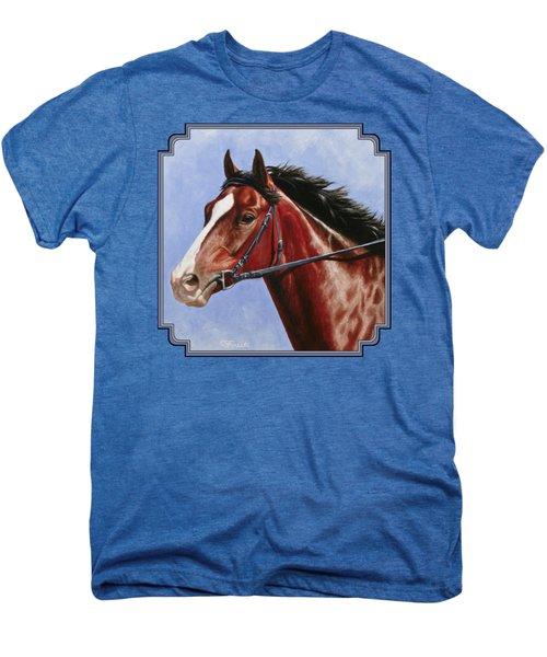 Horse Painting - Determination Men's Premium T-Shirt