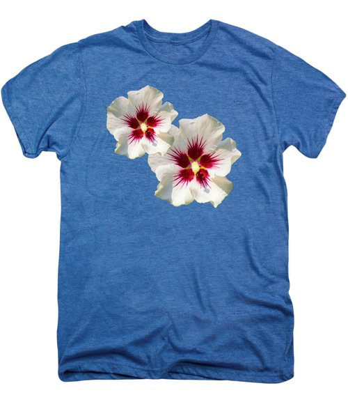 Men's Premium T-Shirt featuring the mixed media Hibiscus Flower Pattern by Christina Rollo