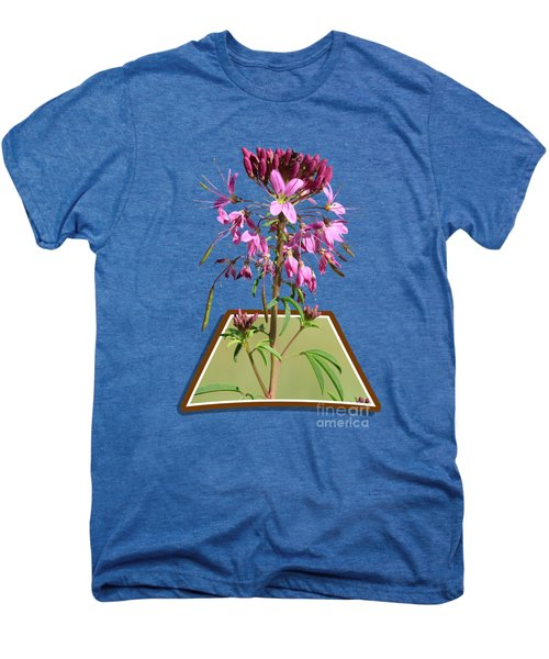 Rocky Mountain Bee Plant Men's Premium T-Shirt by Shane Bechler