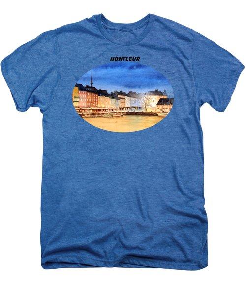 Honfleur  Evening Lights Men's Premium T-Shirt by Bill Holkham