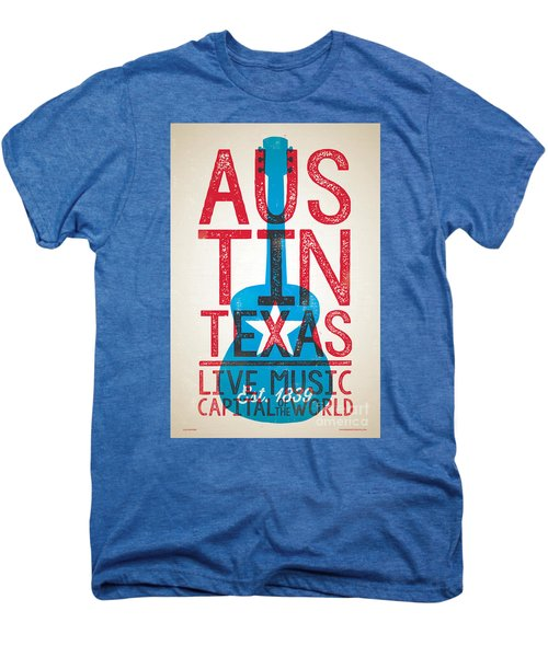 Austin Texas - Live Music Men's Premium T-Shirt by Jim Zahniser