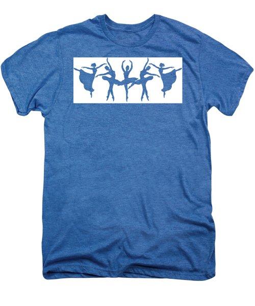 Ballerinas Dancing Silhouettes Men's Premium T-Shirt
