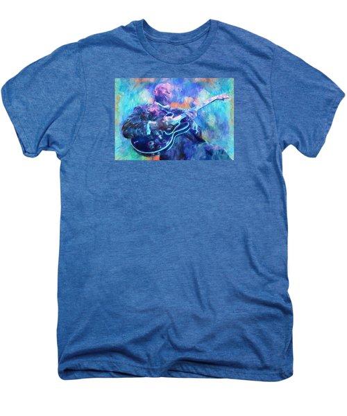 Bb King Men's Premium T-Shirt by Dan Sproul