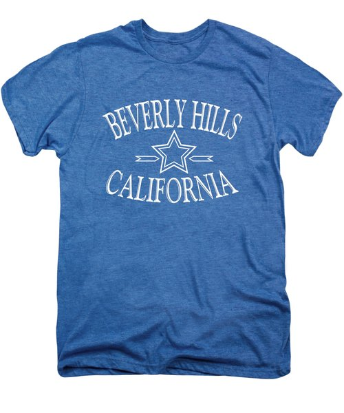Beverly Hills California - Tshirt Design Men's Premium T-Shirt by Art America Gallery Peter Potter