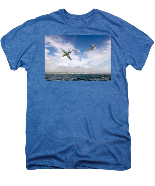 Men's Premium T-Shirt featuring the photograph Bf109 Down In The Channel by Gary Eason