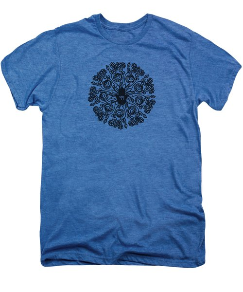 Black And White Hamsa Mandala- Art By Linda Woods Men's Premium T-Shirt