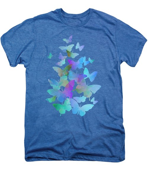 Blue Butterfly Flutter Men's Premium T-Shirt