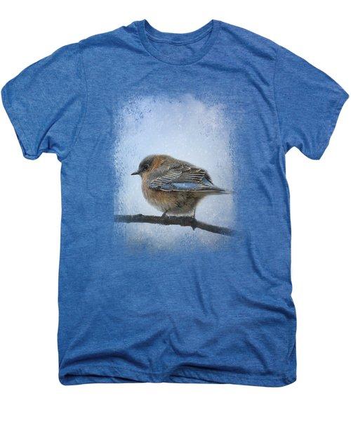 Bluebird In The Snow Men's Premium T-Shirt by Jai Johnson