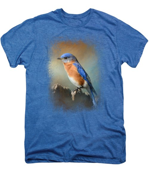 Bluebird On The Fence Men's Premium T-Shirt by Jai Johnson