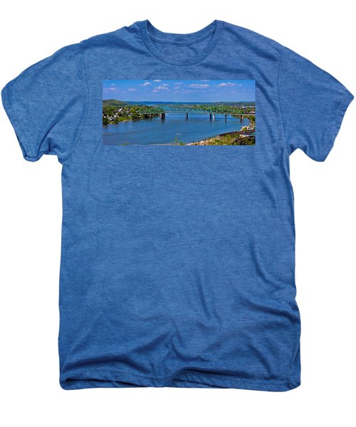 Bridge On The Ohio River Men's Premium T-Shirt