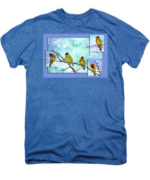 Cedar Waxwing Party Men's Premium T-Shirt