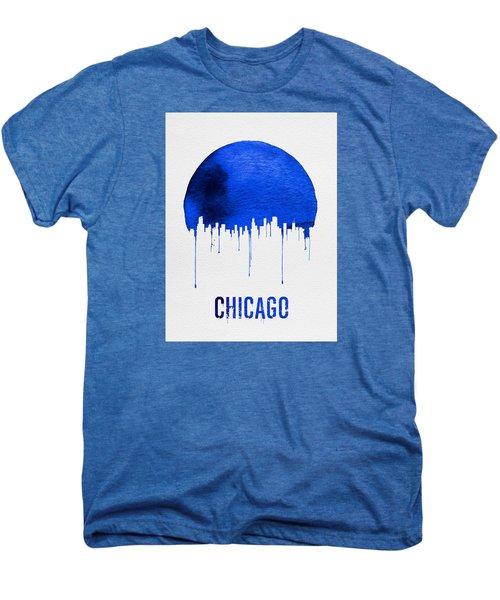Chicago Skyline Blue Men's Premium T-Shirt by Naxart Studio