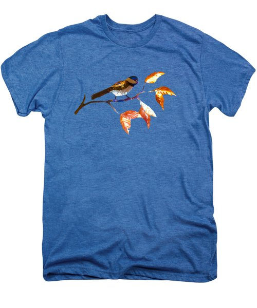 Chickadee Men's Premium T-Shirt by Troy Rider