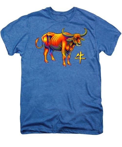 Chinese Zodiac - Year Of The Ox Men's Premium T-Shirt