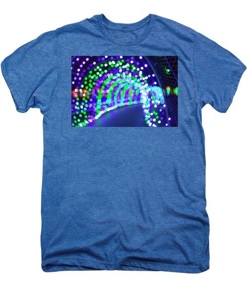 Christmas Lights Decoration Blurred Defocused Bokeh Men's Premium T-Shirt
