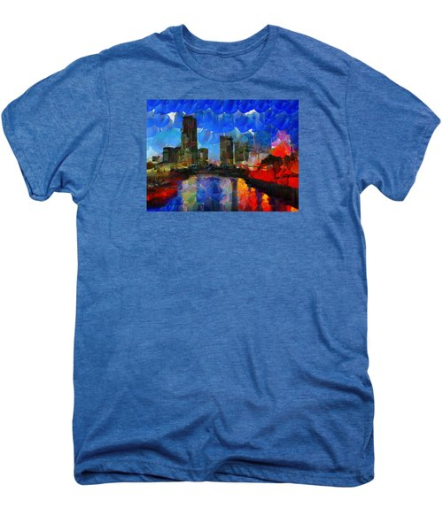 City Living - Tokyo - Skyline Men's Premium T-Shirt by Sir Josef - Social Critic - ART