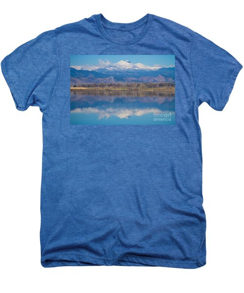 Colorado Longs Peak Circling Clouds Reflection Men's Premium T-Shirt by James BO  Insogna