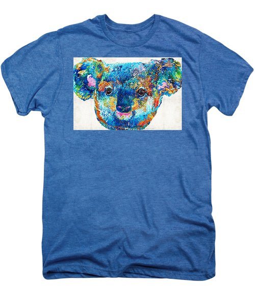 Colorful Koala Bear Art By Sharon Cummings Men's Premium T-Shirt by Sharon Cummings