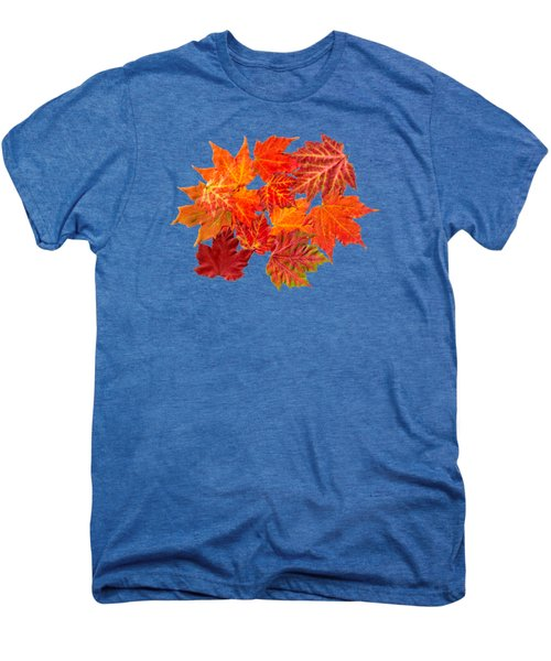 Colorful Maple Leaves Men's Premium T-Shirt by Christina Rollo