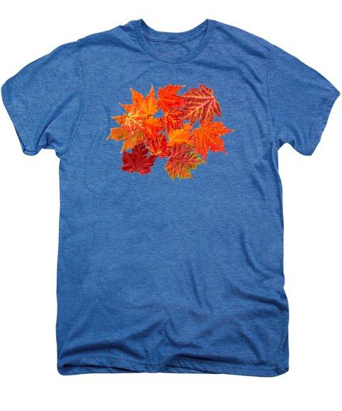 Colorful Maple Leaves Men's Premium T-Shirt