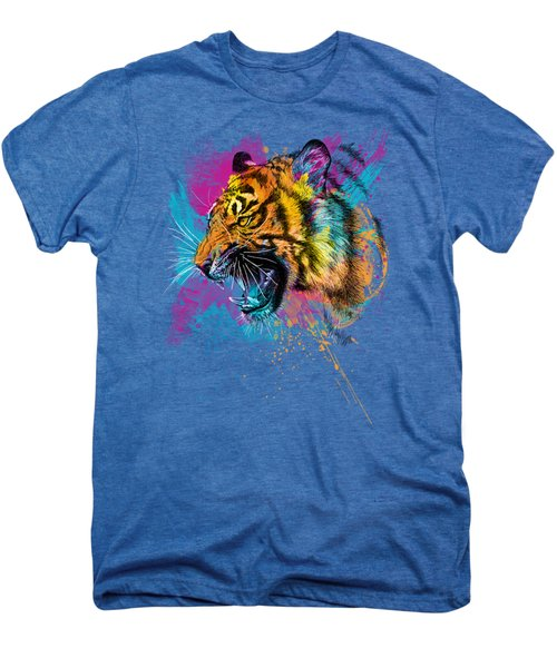 Crazy Tiger Men's Premium T-Shirt by Olga Shvartsur