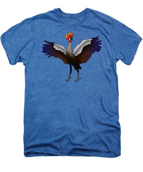 Crowned Crane Men's Premium T-Shirt by Dusty Conley