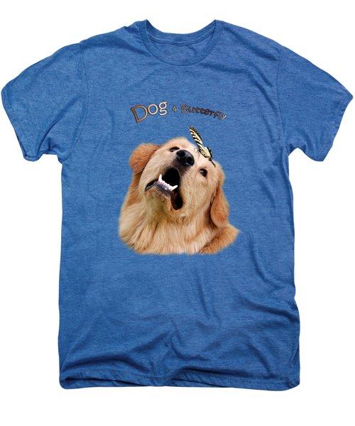 Dog And Butterfly Men's Premium T-Shirt