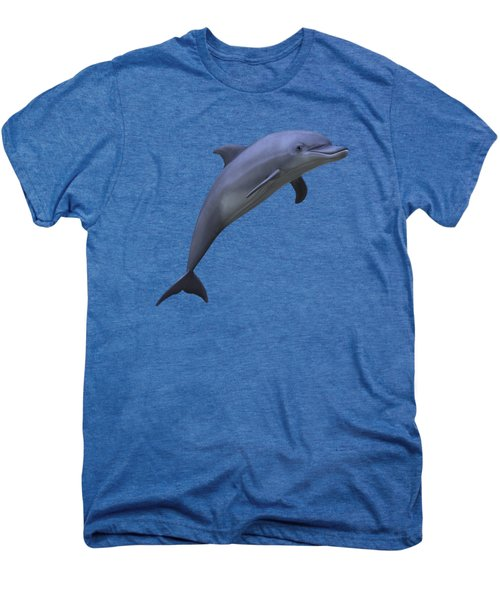 Dolphin In Ocean Blue Men's Premium T-Shirt by Movie Poster Prints