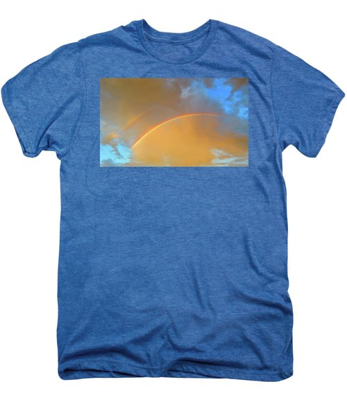 Double Rainbows In The Desert Men's Premium T-Shirt