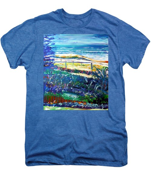 Men's Premium T-Shirt featuring the painting Dune Grasses by Winsome Gunning