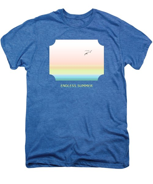 Endless Summer - Blue Men's Premium T-Shirt by Gill Billington