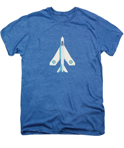 English Electric Lightning Fighter Jet Aircraft - Blue Men's Premium T-Shirt