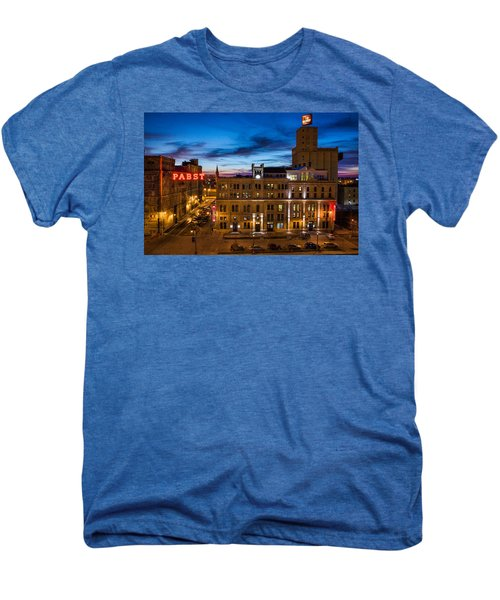 Evening At Pabst Men's Premium T-Shirt by Bill Pevlor