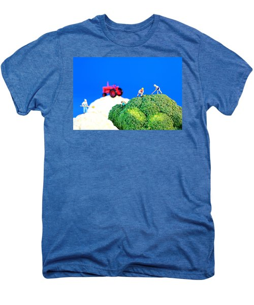 Farming On Broccoli And Cauliflower II Men's Premium T-Shirt by Paul Ge