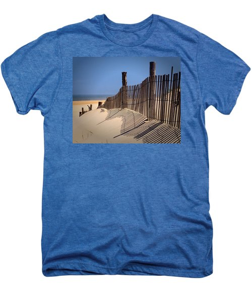 Fenwick Dune Fence And Shadows Men's Premium T-Shirt