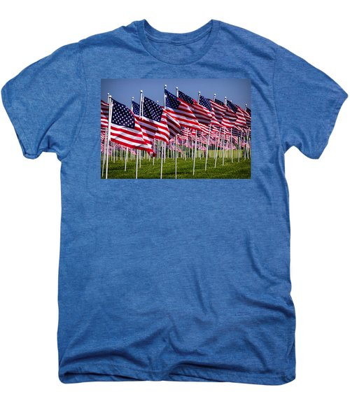 Field Of Flags For Heroes Men's Premium T-Shirt