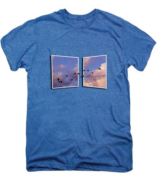 Flying Across Men's Premium T-Shirt