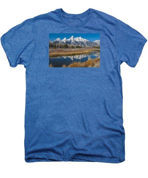 Men's Premium T-Shirt featuring the photograph Grand Tetons by Gary Lengyel