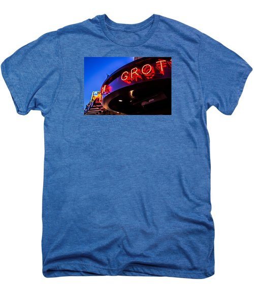 Grotto - Night View Men's Premium T-Shirt by Lora Lee Chapman