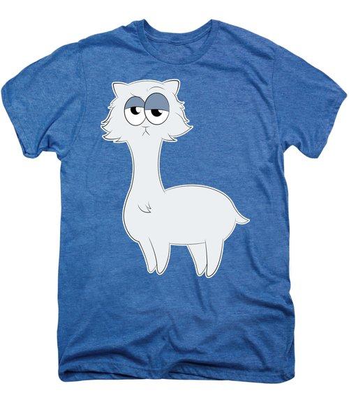 Grumpy Persian Cat Llama Men's Premium T-Shirt
