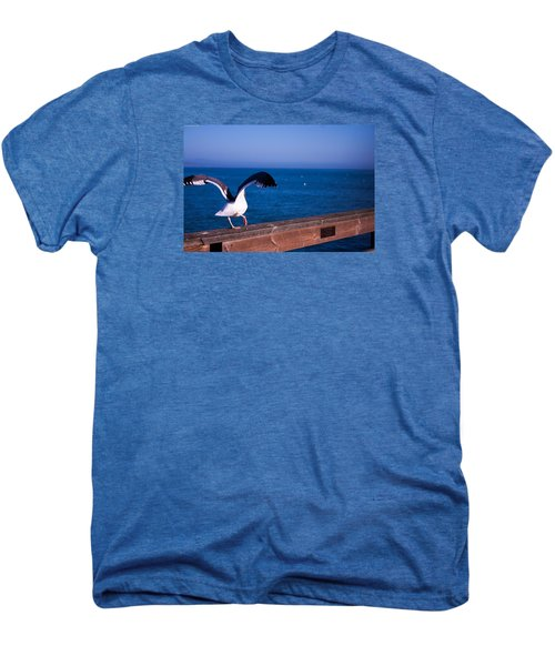 Gull Dance Men's Premium T-Shirt by Lora Lee Chapman