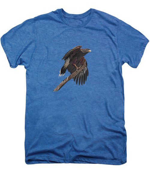Harris Hawk - Transparent Men's Premium T-Shirt by Nikolyn McDonald