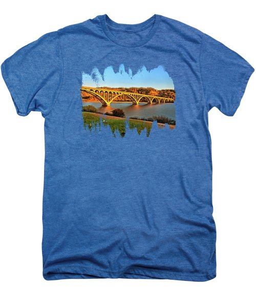 Historic Patterson Bridge Gold Beach Men's Premium T-Shirt by Thom Zehrfeld