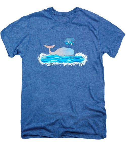 How Whales Have Fun Men's Premium T-Shirt by Shawna Rowe