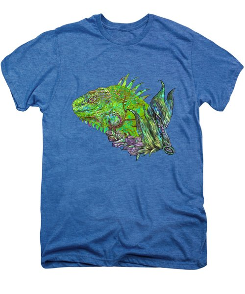 Iguana Cool Men's Premium T-Shirt by Carol Cavalaris